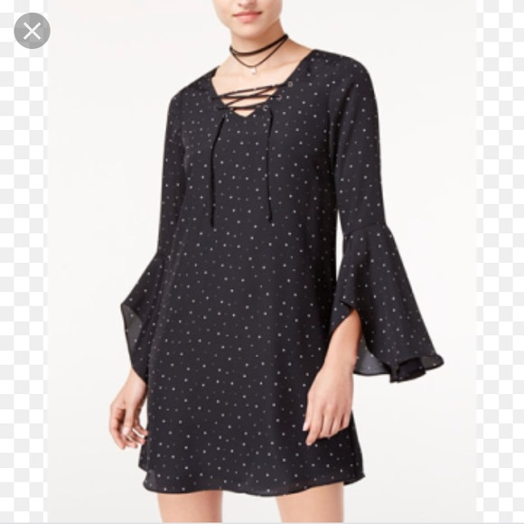 b077fee4e Seventeen Dresses | The Edit By Black Starprint Dress | Poshmark